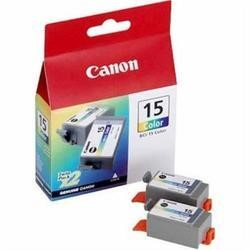 Canon BCI 15 Twin Pack Ink Tank - Cyan Yellow and Magenta