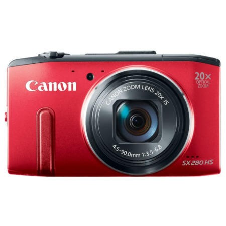 Canon PowerShot SX280 HS 12.1 MP Digital Camera - Red