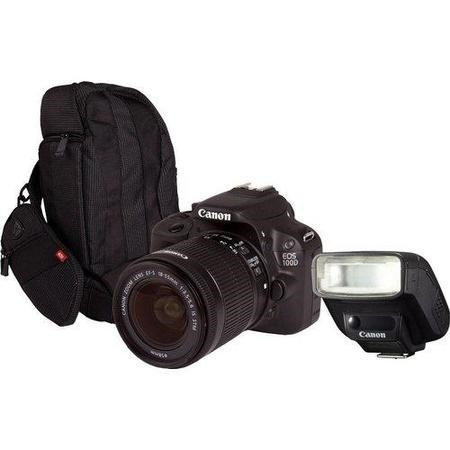 Canon EOS 100D SLR Kit including 18-55mm Lens 300EG Bag  and 270EX II Speedlite