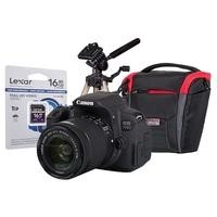 Canon EOS 700D DSLR Camera + EF-S 18-55mm IS STM Lens + 16GB SD Card + Desktop Tripod + Camera Bag