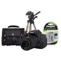 Canon EOS 700D DSLR Camera + EF-S 18-55mm IS Lens + Camera Bag + LP-E8 Battery + Desktop Tripod