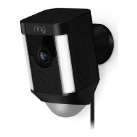 Ring Spotlight Camera 1080p HD - Wired - Black