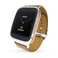 Asus Zen Watch Silver / Brown Leather