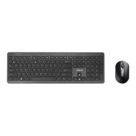 Asus W2000 Keyboard + Mouse  Black  UK  Wireless  Optical