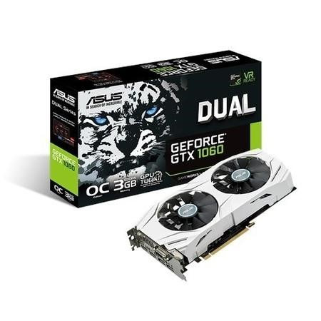 Asus Dual Nvidia GeForce GTX 1060 OC 3GB GDDR5 Graphics Cards