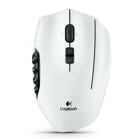 Logitech G600 MMO Gaming Mouse - White