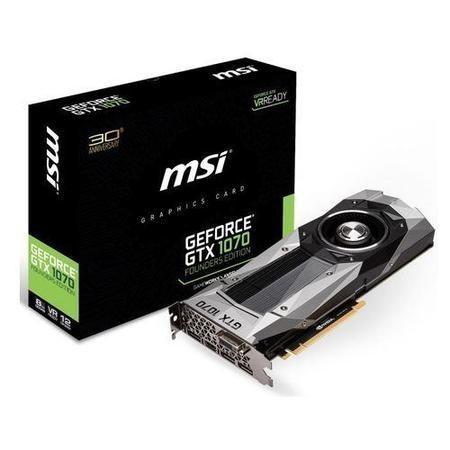 MSI GeForce GTX 1070 Founders Edition 8GB GDDR5 DVI HDMI 3 x DisplayPort  PCI-E Graphics Card