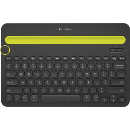 Logitech K480 Bluetooth Multi-Device Keyboard - Black