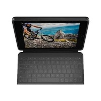 Logitech Rugged Folio - Keyboard and folio case - Apple Smart connector - UK English - for Apple 10.2-inch iPad 7th generation