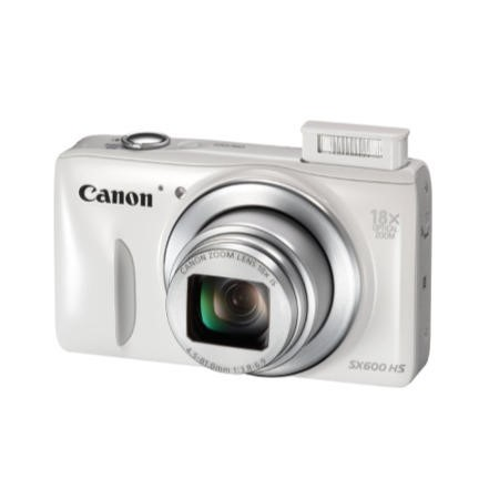 Canon Powershot SX600 HS Camera White 16MP 18xZoom 3.0LCD FHD 25mm Wide Lens