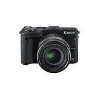 Canon EOS M3 Camera Kit EF-M 18-55mm Lens  Cover  Strap  EH27-CJ Jacket 16GB SD
