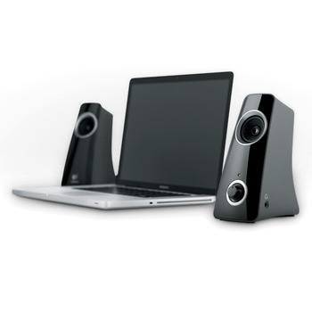 Logitech Z320 Portable Speaker System - Black