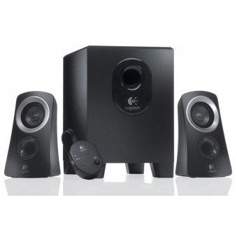 980-000447 Logitech 2.1 Z313 Speaker System in Black