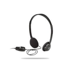 Logitech Headphones with Volume Control on Cable - Black