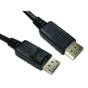 99DP-001LOCK Buy It Direct DP M to M - 1m - DisplayPort Cable with Locking 20 Pin Connector