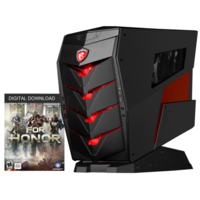 MSI Aegis X Water Cooled Core i7-6700K 16GB RAM 2TB HDD + 256GB SSD NVIDIA GTX 1070 Windows 10 Gaming Desktop with Keyboard+Mouse + For Honor Game