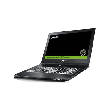 MSI WS60 6QJ-612UK Core i7-6700HQ 16GB 1TB + 128GB SSD Quadro M2002M 4GB 15.6 Inch Windows 10 Professional Workstation Laptop