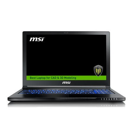 9S7-16K332-203 MSI WS63 7RL Core i7-7700HQ 16GB 2TB + 256GB SSD Quadro P4000 15.6 Inch Windows 10 Professional Laptop