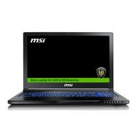 MSI WS63 7RL Core i7-7700HQ 16GB 2TB + 256GB SSD Quadro P4000 15.6 Inch Windows 10 Professional Laptop