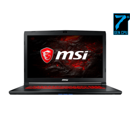 9S7-1799E5-1225 MSI GL72 7REX Core i7-7700HQ 8GB 1TB + 256GB SSD 17.3 Inch GeForce GTX 1050 Ti 2GB Windows 10 Gaming Laptop Free Bag
