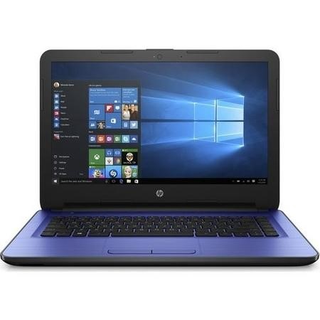 "A1/1BW42EA Refurbished HP 14-an063sa 14"" AMD E2-7110 4GB 1TB Radeon R2 Graphics Windows 10 Laptop in Blue"