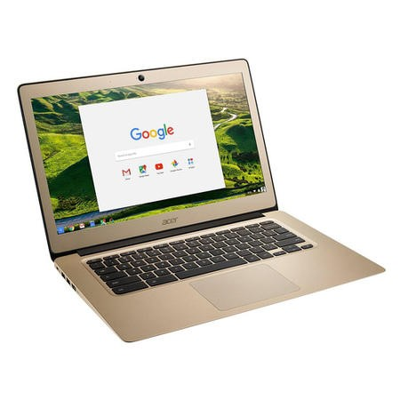 "A1/NX.GJEEK.003 Refurbished Acer CB3-431 14"" Intel Celeron N3060 1.6GHz 2GB 16GB eMMC Chrome OS Laptop in Gold"