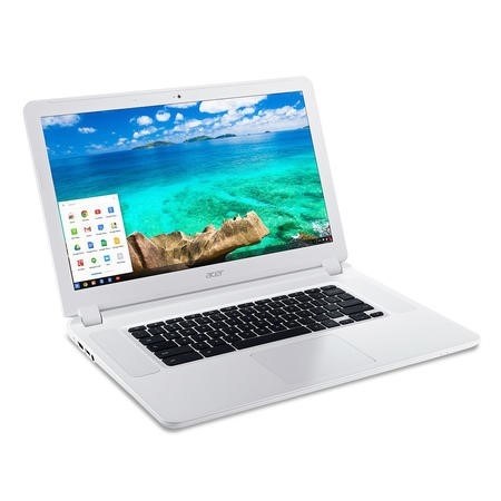 "Refurbished Acer CB5-571 15.6"" Intel Celeron 3205U 2GB 32GB SSD WiFi Chrombook in White"