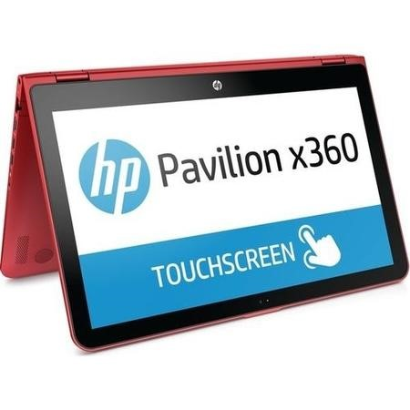 "A1/Z9D34EA Refurbished HP Pavilion x360 15-bk152sa 15.6"" Intel Core i3-7100U 8GB 1TB Windows 10 Touchscreen Convertible Laptop in Red"