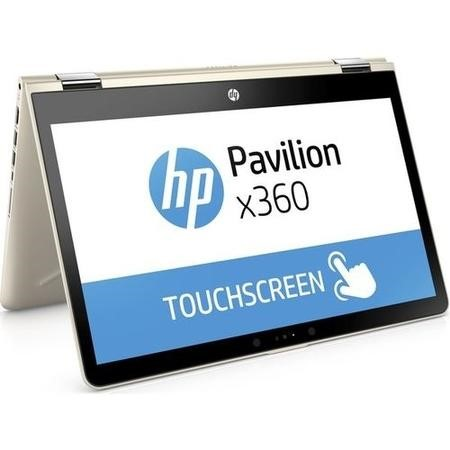 "Refurbished HP Pavilion x360 14-ba094sa 14"" Intel Pentium 4415U 4GB 128GB SSD Windows 10 Touchscreen Convertible Laptop in Silk Gold"