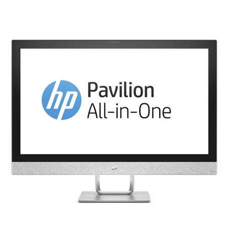 A3/2XB44EA Refurbished HP Pavilion 27-r005na Core i5-7400T 8GB 2TB 27 Inch Windows 10 All in One in White