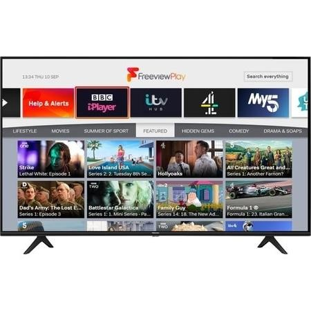 Refurbished Hisense 58'' 4K Ultra HD with HDR LED Freeview Play Smart TV