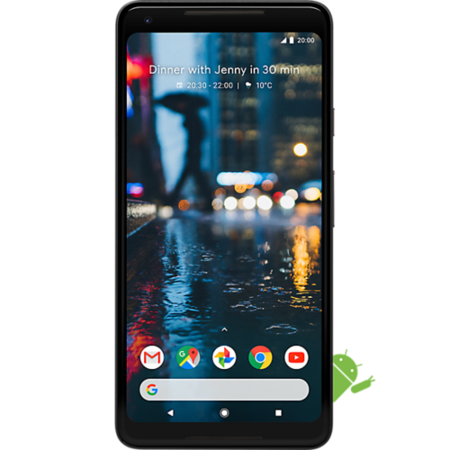 "A3/G011C/128XLBLK Grade C Google Pixel 2 XL Just Black 5"" 128GB 4G Unlocked & SIM Free"