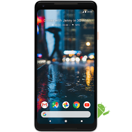 "G011C/64XLWHT Google Pixel 2 XL Black & White 6"" 64GB 4G Unlocked & SIM Free"