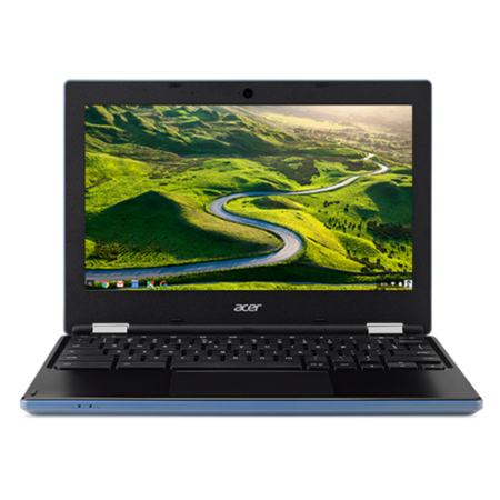 A1/NX.GR3EK.001 Refurbished Acer CB3-131 Intel Celeron N2840 2GB 16GB 11.6 Inch Chrome OS Chromebook in Blue