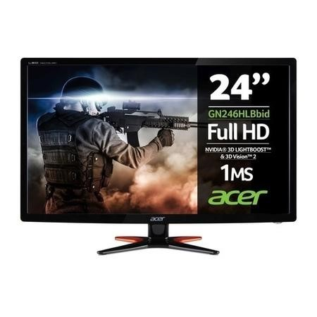 Refurbished Acer GN246HL 24 Inch LED VGA DVI HDMI 1ms Monitor
