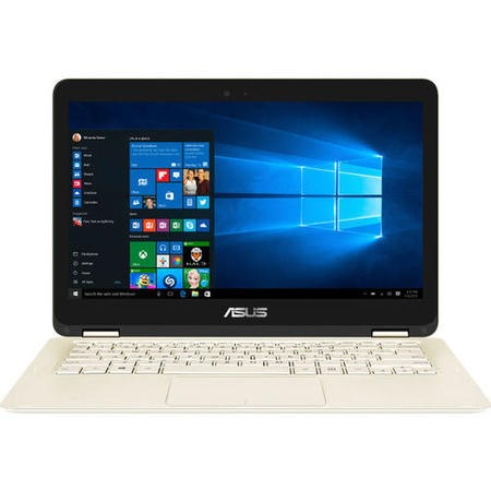 "Refurbished Asus ZenBook Flip UX360CA 13.3"" Intel Core M5-6Y54 8GB 256GB SSD Windows 10 Touchscreen Convertible Laptop in Gold"