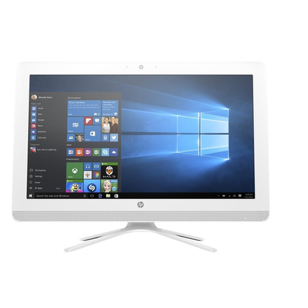A1/W3B85EA Refurbished HP 22-b000na Intel Celeron J3060 4GB 1TB DVD-RW 22 Inch Windows 10 All in One PC in White