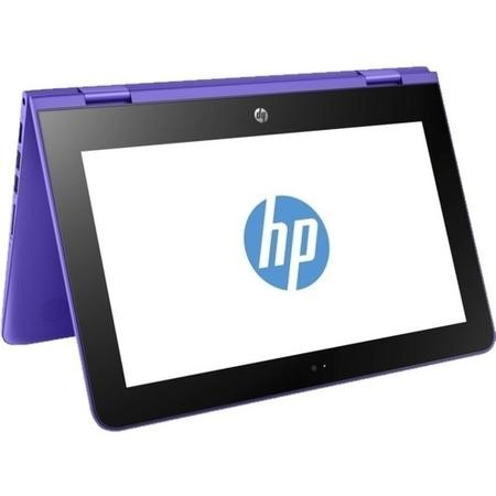 "A2/Y5V16EA Hewlett Packard Refurbished HP Stream x360 11-aa0001na 11.6"" Intel Celeron N3060 1.6GHz 2GB 32GB eMMC Windows 10 Touchscreen Convertible Laptop in Purple"