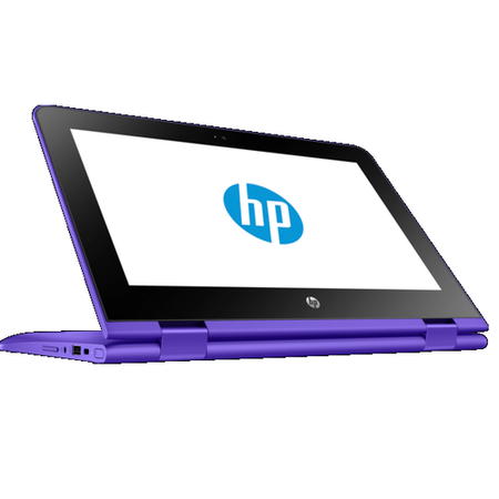 "Refurbished HP Stream x360 Celeron N3060 2GB 32GB 11.6"" Windows 10 Touchscreen Convertible Laptop in Purple"