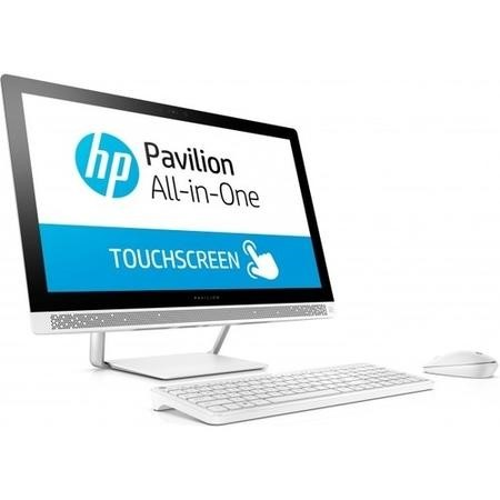 Hewlett Packard Refurbished HP Pavilion 24-b209na AMD A9-9410 8GB 2TB Radeon R5 23.8 Inch Windows 10 Touchscreen All in One PC in White