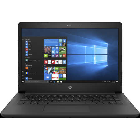 "A2/2KG79EA Refurbished HP 14-bp059sa 14"" Intel Celeron N3060 4GB 64GB eMMC Windows 10 Laptop in Jet Black"