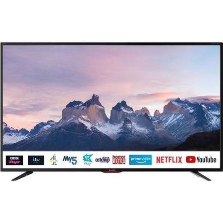 "Refurbished Sharp 40"" 4K Ultra HD LED Freeview Play Smart TV"