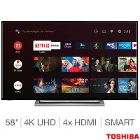 "Refurbished Toshiba 58"" 4K Ultra HD with HDR LED Smart TV"