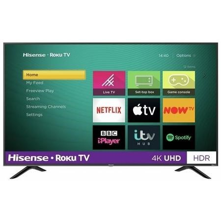 "Refurbished Hisense Roku 65"" 4K Ultra HD with HDR LED Freeview Play Smart TV"