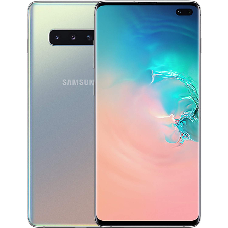 Communication & Mobile Phones Grade A2 Samsung Galaxy S10 Plus Silver 6.4 128GB 4G Unlocked & SIM Free