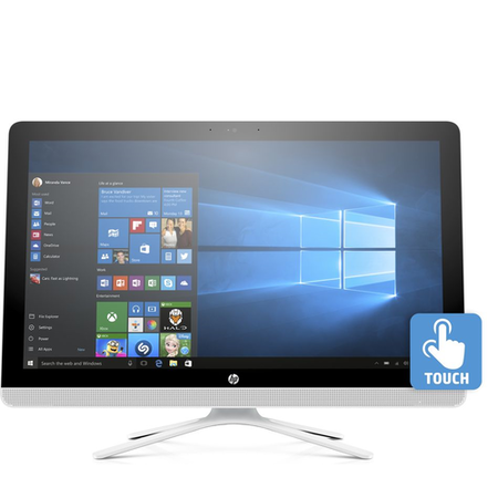 A2/W3C24EA Refurbished HP 24-g085na AMD A8-7410 8GB 1TB DVD-RW 24 Inch Touchscreen Windows 10 All in One in White