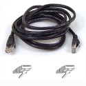 A3L791B03M-BLKS Belkin RJ45 CAT-5e Patch Cable - 3 metre 9.8 foot - Snagless Molded - Black