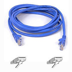 1m Patch Cable Cat 5 RJ45 Moulded Snagless Blue