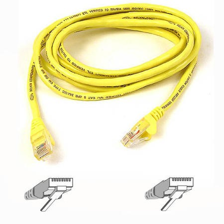 A3L980B02MYL-HS Belkin 2M Patch Cable CAT6 Shield Snagless - Yellow