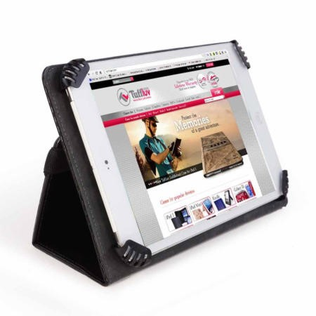 "Uni-view 7 Generic Universal Faux Leather case cover compatible with multiple 7"" - 8"" tablet devices"